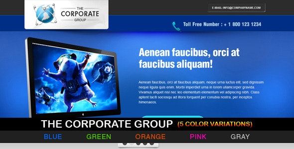The Corporate Group - 5 variations - Landing Pages Marketing