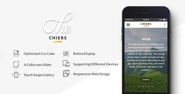 Chiers - Responsive Blog & Shop Template - Mobile Site Templates