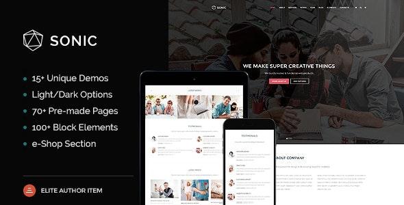 Sonic - Responsive Multi-Purpose HTML Template - Business Corporate