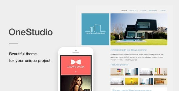 OneStudio - A Unique Responsive WordPress Theme