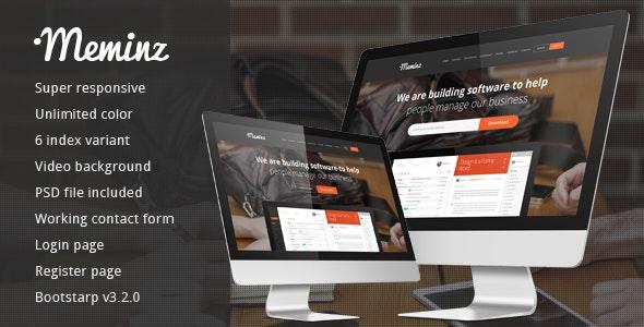Meminz Download Software Landing Page - Software Technology