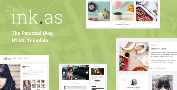 Inkas - The Personal Blog HTML Template - Personal Site Templates