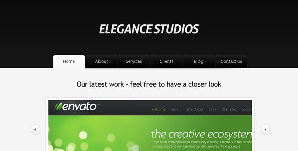 Elegance Studios HTML Template - Creative Site Templates