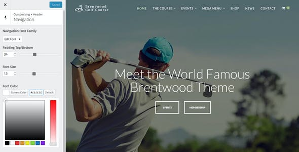 Brentwood - Golf Course Theme