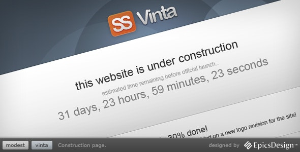 Vinta SS - Under Construction Page - Under Construction Specialty Pages