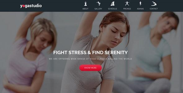 Yoga | Landing Page Muse Template - Landing Muse Templates