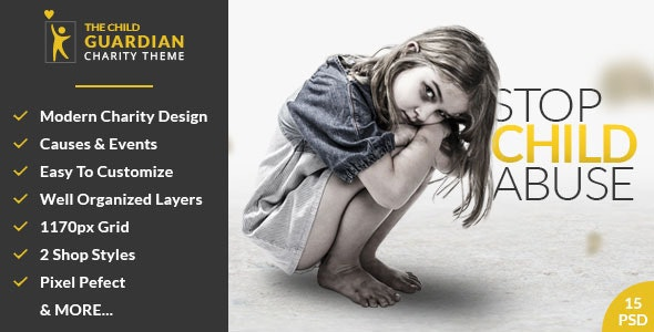 The Child Guardian - Charity PSD Template - Charity Nonprofit