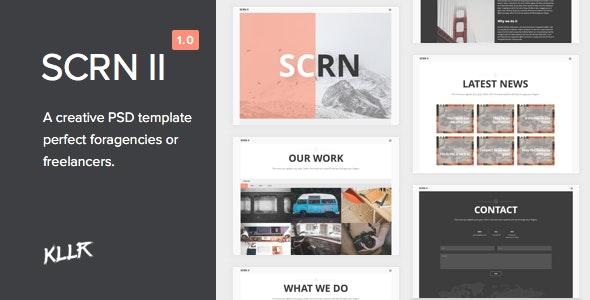SCRN II - Creative PSD Template - Creative Photoshop