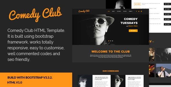 Comedy Club - Entertainment HTML Template - Entertainment Site Templates