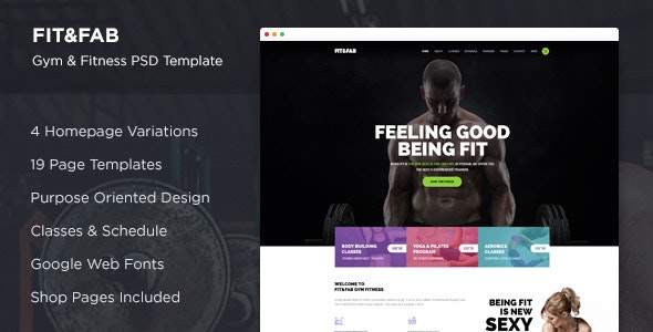 Fit & Fab - Gym and Fitness PSD Template - Health & Beauty Retail