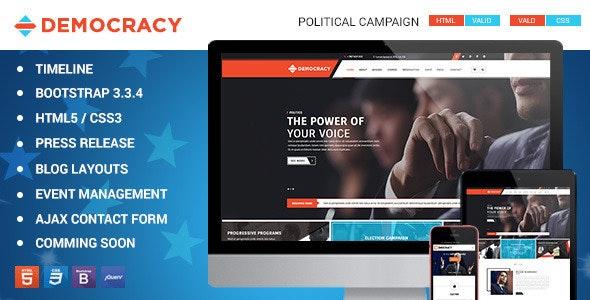 Democracy HTML5 - CSS3 Theme - Political Nonprofit