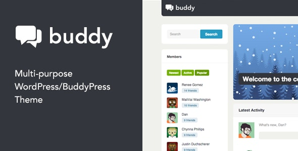 Buddy: Simple WordPress & BuddyPress Theme - BuddyPress WordPress