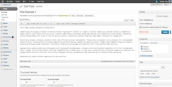 Buddy: Simple WordPress & BuddyPress Theme