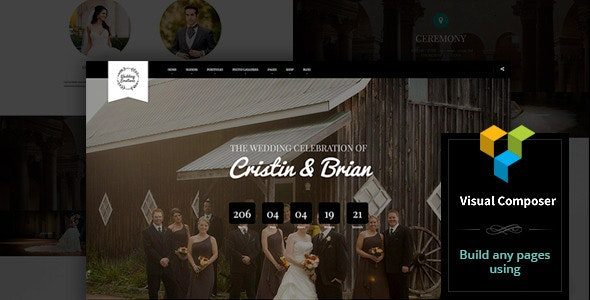 Wedding Emotions - WordPress Theme - Wedding WordPress