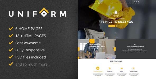 Uniform Building Construction HTML Template