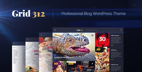 Grid312 - Professional Blog WordPress Theme - Personal Blog / Magazine