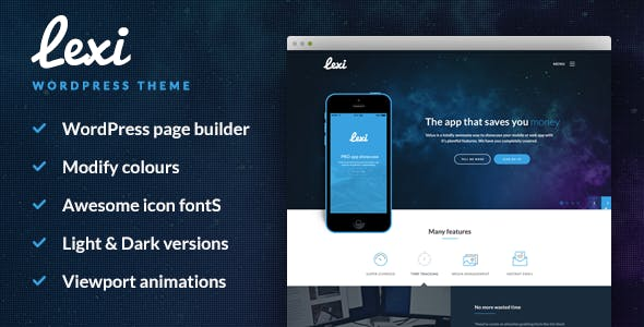 Lexi - Mobile App WordPress Theme