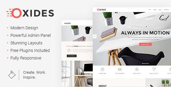 Oxides - Creative Studio Theme for Companies and Entrepreneurs - Creative WordPress
