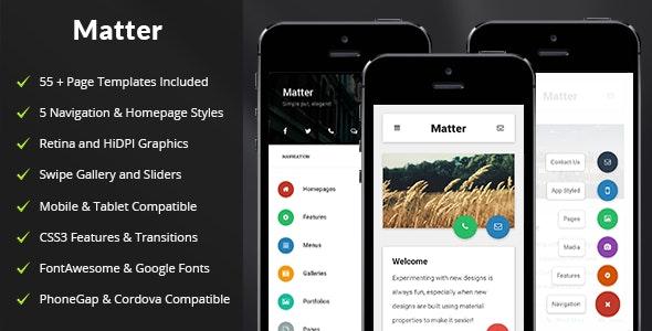 Matter Mobile - Mobile Site Templates