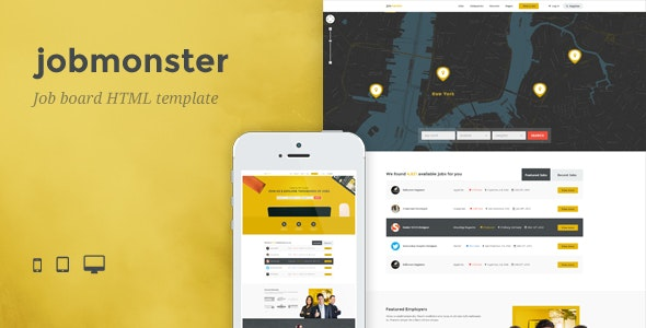 Jobmonster - Job Board HTML Template - Business Corporate