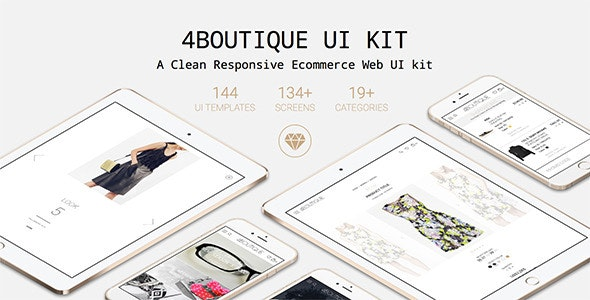 4Boutique - A Responsive Ecommerce Web UI KIT - Shopping Retail