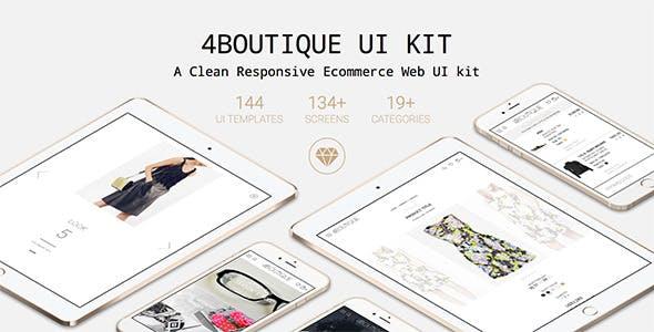 4Boutique - A Responsive Ecommerce Web UI KIT
