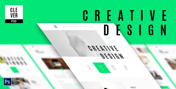 Clever - Creative & Design Portfolio Template - Creative PSD Templates