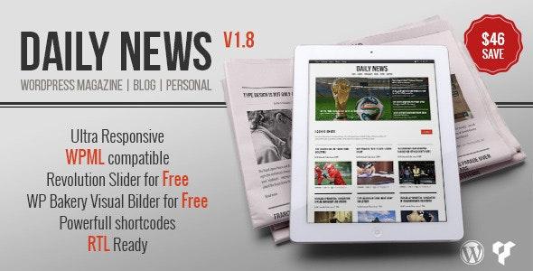 DAILYNEWS - Magazine | Blog | Personal WordPress Theme - News / Editorial Blog / Magazine