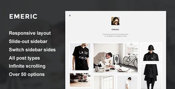 Emeric - Modern Grid Theme - Blog Tumblr