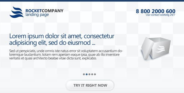Rocketcompany Landing Page