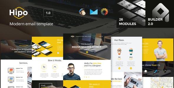 Hipo - Multipurpose Email Template + Builder 2.0