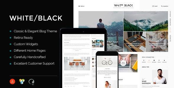 WhiteBlack - A Responsive WordPress Blog Theme - Blog / Magazine WordPress