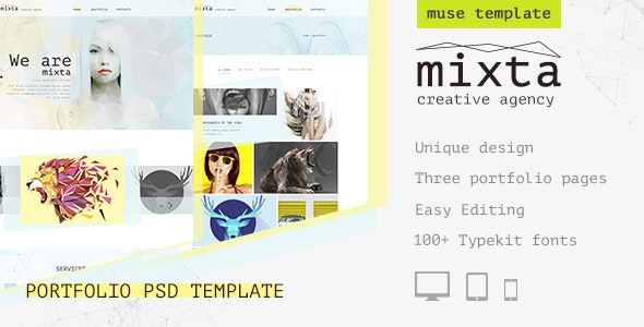 Mixta — Creative Agency, Portfolio Muse Template - Creative Muse Templates