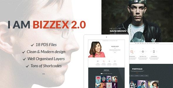 Bizzex - Modern Flat Portfolio Theme - Personal Photoshop