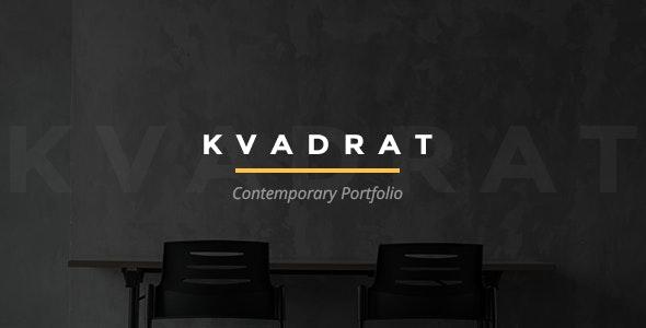 Kvadrat - Contemporary Portfolio - Portfolio Creative