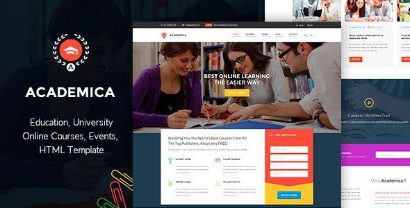 Academica - Educational HTML  Theme - Business Corporate