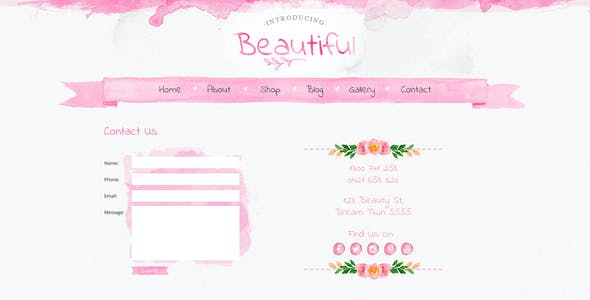 Beautiful - A Hand painted Watercolor PSD