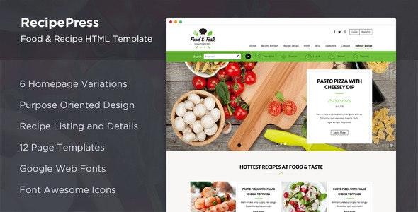 RecipePress - Food & Recipes Premium HTML Template - Food Retail
