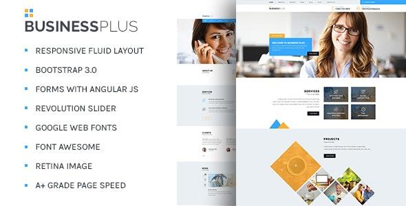 BusinessPlus - Corporate Business HTML5 Template - Corporate Site Templates