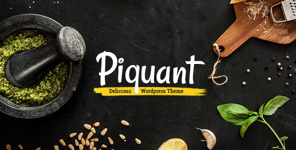Piquant - Restaurant, Bar & Café Theme - Restaurants & Cafes Entertainment