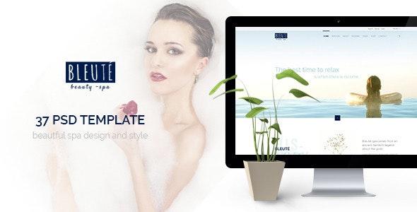 Bleute - Beauty | Spa | Hair | Wellness/Salon PSD - Health & Beauty Retail