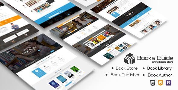 digital library website template free download