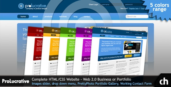 ProLucrative -  Web 2.0 Business, Software HTML - Corporate Site Templates