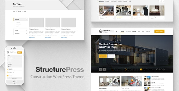 StructurePress - Construction and Architecture WordPress Theme - Business Corporate