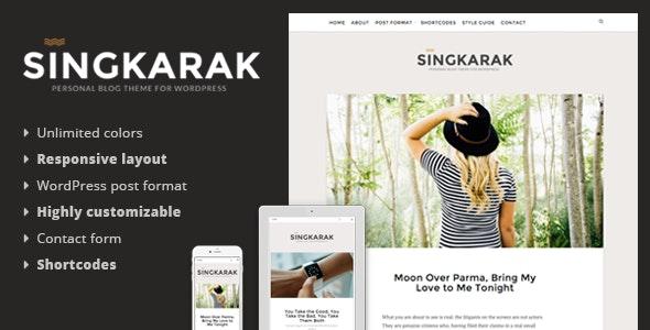 Singkarak - Responsive WordPress Blog Theme - Personal Blog / Magazine