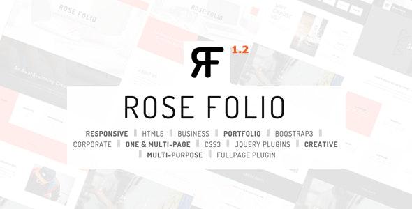 Rose Folio - Business / Portfolio HTML5 Template - Creative Site Templates