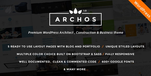 Archos - Architect, Construction & Business theme - Corporate WordPress