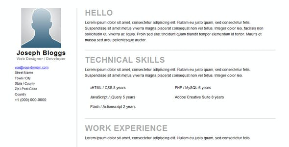 Pinstripe - Premium Resume / CV Template