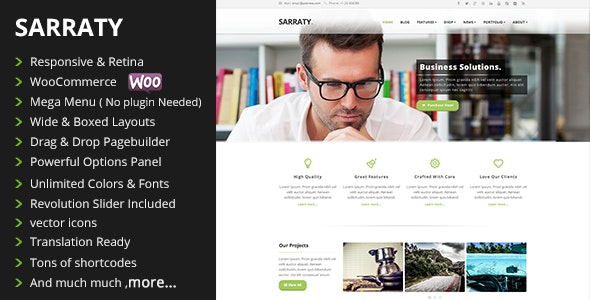 Sarraty - Business Theme - Business Corporate