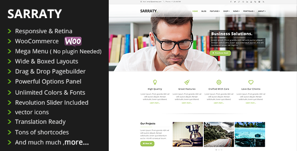 Sarraty Business - Business Theme - Business Corporate